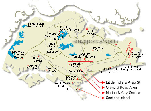 Singapore climate location singapore map geography about singapore map gumiabroncs Gallery