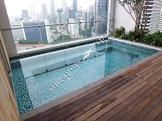 Condo singapore - pollen and bleu - pool